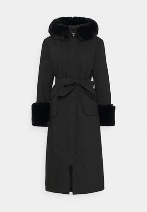 BELTED TRIM MIDDAXI  - Trenchcoat - black