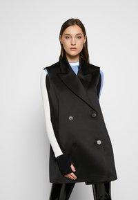 KARL LAGERFELD - SEQUIN COAT  - Classic coat - navy/black - 3