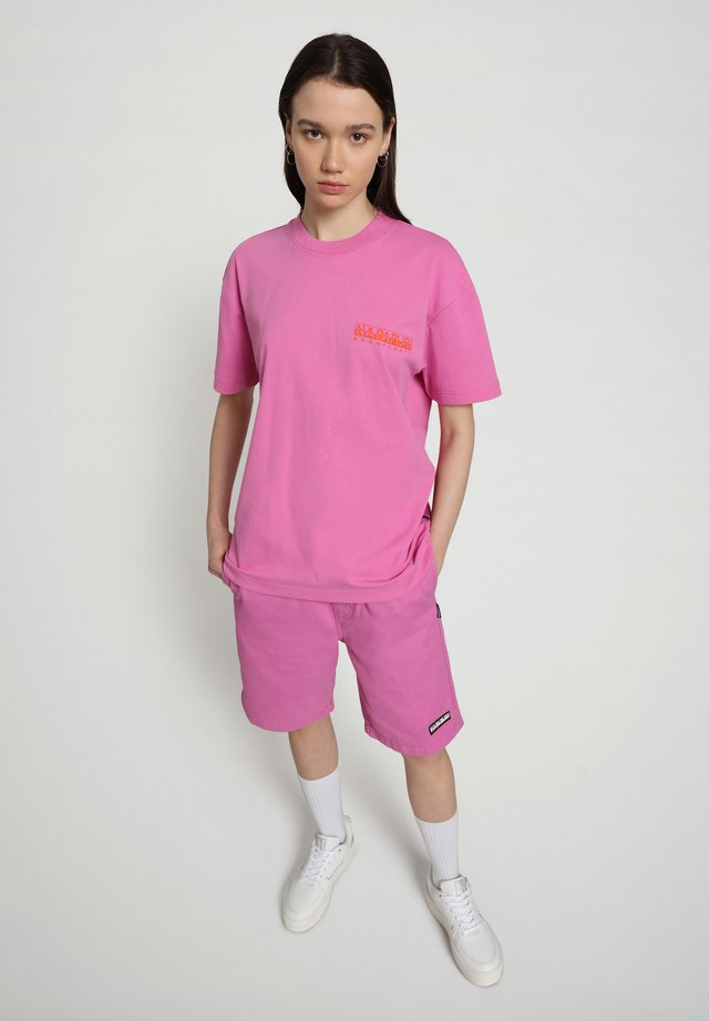 S-HAENA - T-shirt med print - pink super