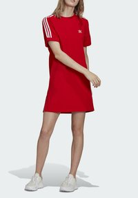 adidas Originals - TEE DRESS - Jersey dress - red - 0
