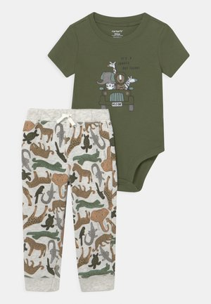 SAFARI SET - Print T-shirt - khaki