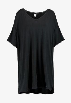 LIQUID TOUCH LOUNGE NIGHTSHIRT - Noční košile - black