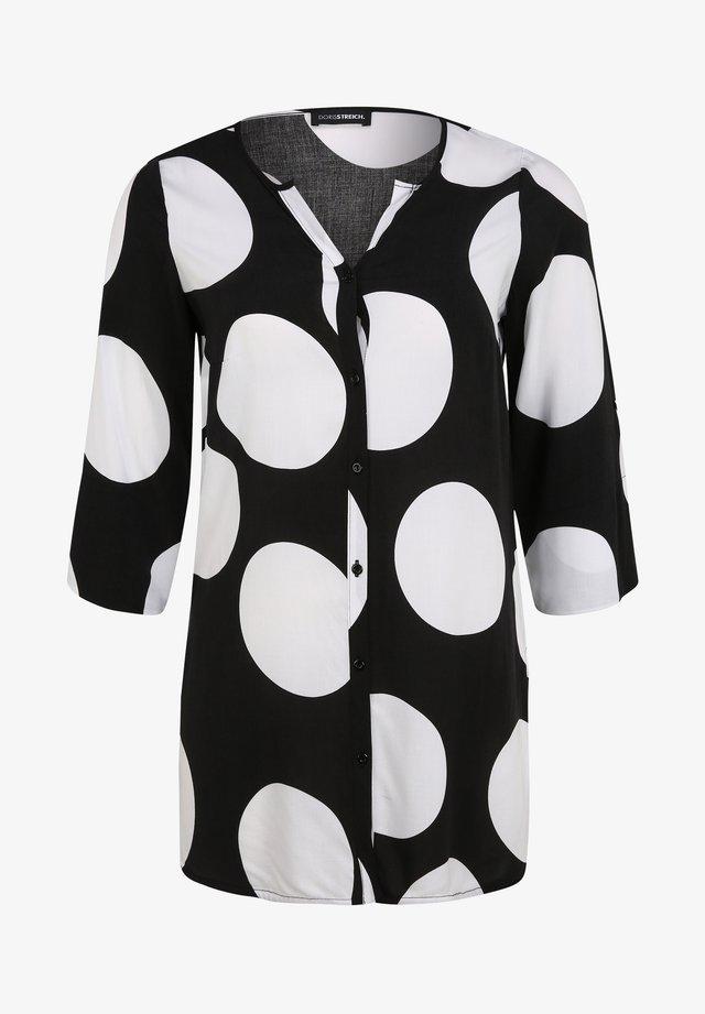 Overhemdblouse - schwarz/weiß