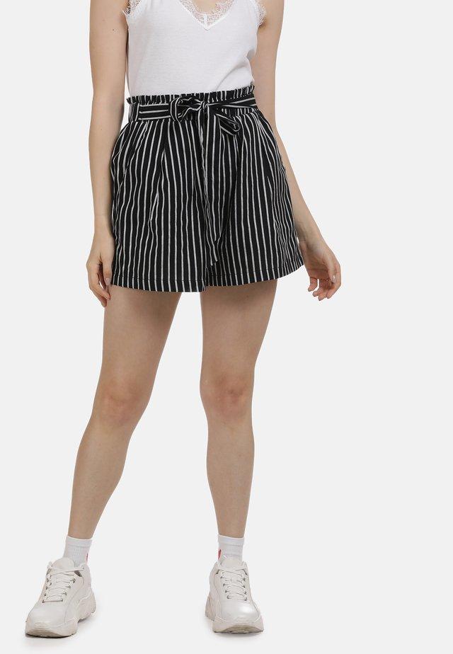 SHORTS - Shorts - black/white