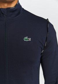 Lacoste Sport - TRACK JACKET - Training jacket - navy blue/white - 5