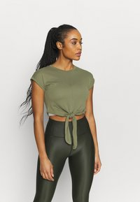 Even&Odd active - Camiseta estampada - olive - 0
