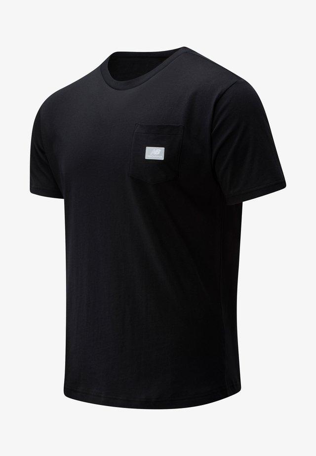 ATHLETICS POCKET - Basic T-shirt - black