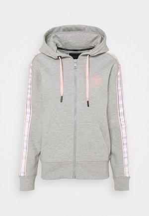BASIC - Zip-up sweatshirt - grey melange