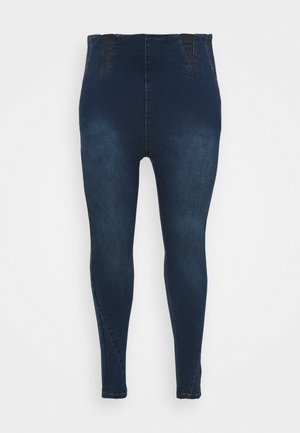 HIGH WAIST SHAPER - Jeggings - indigo