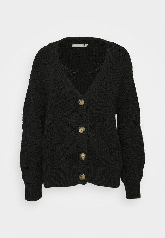 PCBENITA CARDIGAN - Vest - black