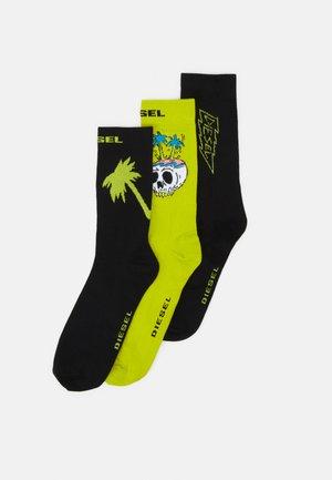SKM-RAY-THREEPACK 3 PACK - Socks - lemon/black