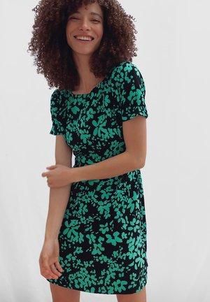 Day dress - black/palm green