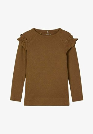 Long sleeved top - coffee liqueúr