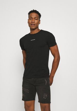 MICRO BRANDING ESSENTIAL TEE - Basic T-shirt - black
