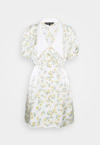 GAME FLORAL MINI DRESS - Shirt dress - ivory