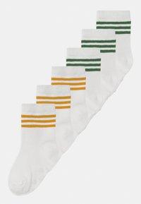 MINI SOCKS 6 PACK UNISEX - Sokken - yellow