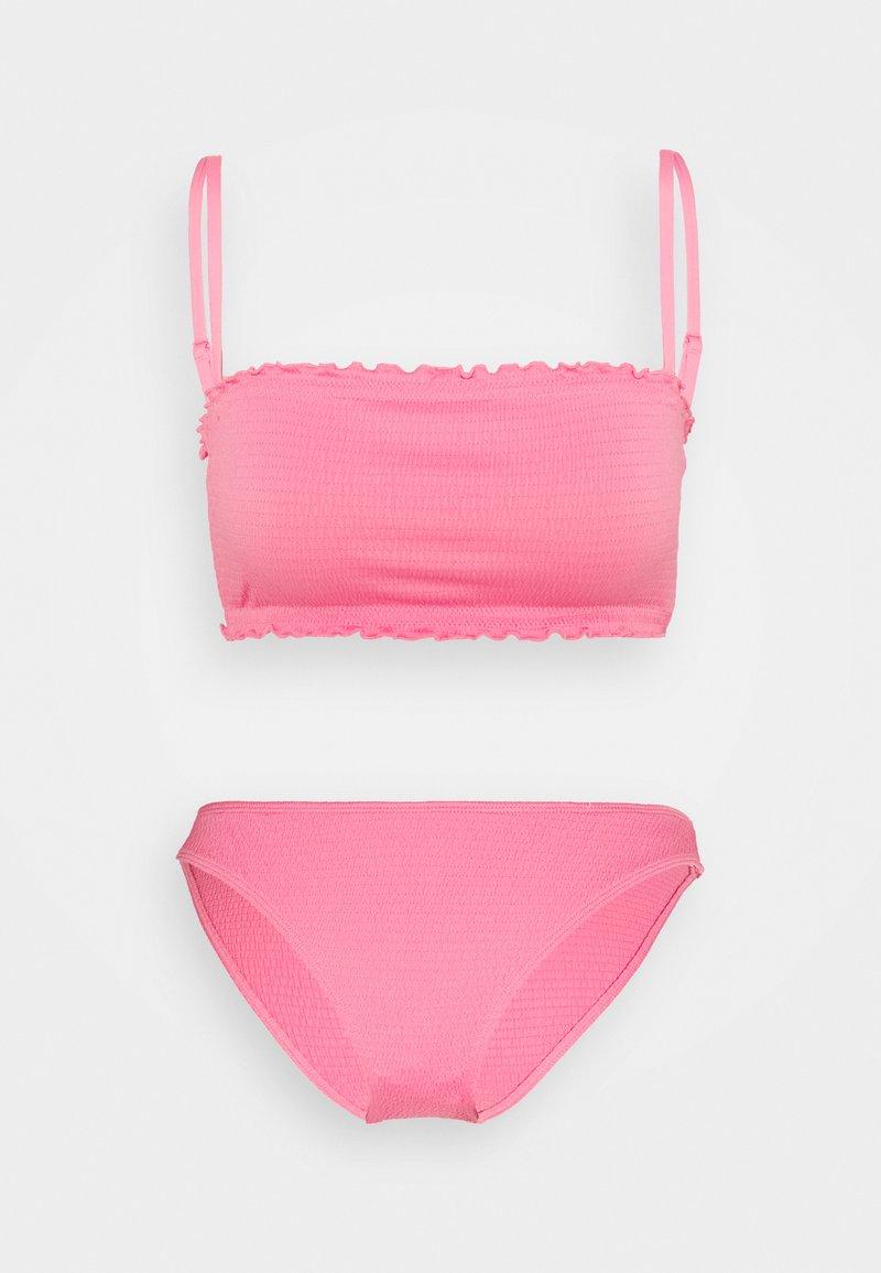 Monki - SHIRRED SET - Bikini - pink medium