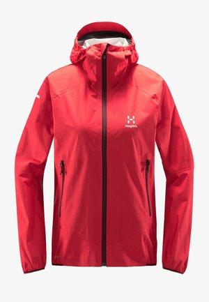 L.I.M PROOF MULTI JACKET - Waterproof jacket - hibiscus red