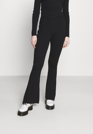 FLARES BUTTON ONWAISTBAND - Trousers - black