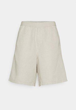LINEN SHORTS - Short - beige