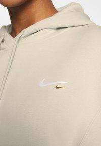 Nike Sportswear - HOODIE DRESS - Day dress - oatmeal - 5