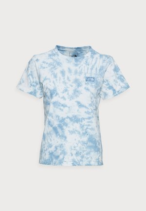 NATURAL DYE TEE - T-shirt imprimé - tourmaline blue