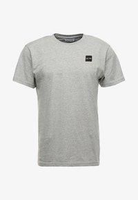 Le Fix - PATCH TEE - T-shirt basique - grey melange - 4