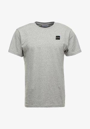 PATCH TEE - Basic T-shirt - grey melange