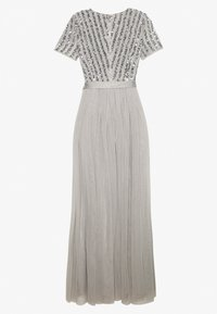 Maya Deluxe - STRIPE EMBELLISHED MAXI DRESS WITH BOW TIE - Occasion wear - soft grey - 1
