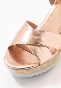 Head over Heels by Dune - KATYAA - Sandały na obcasie - rose gold metallic - 2