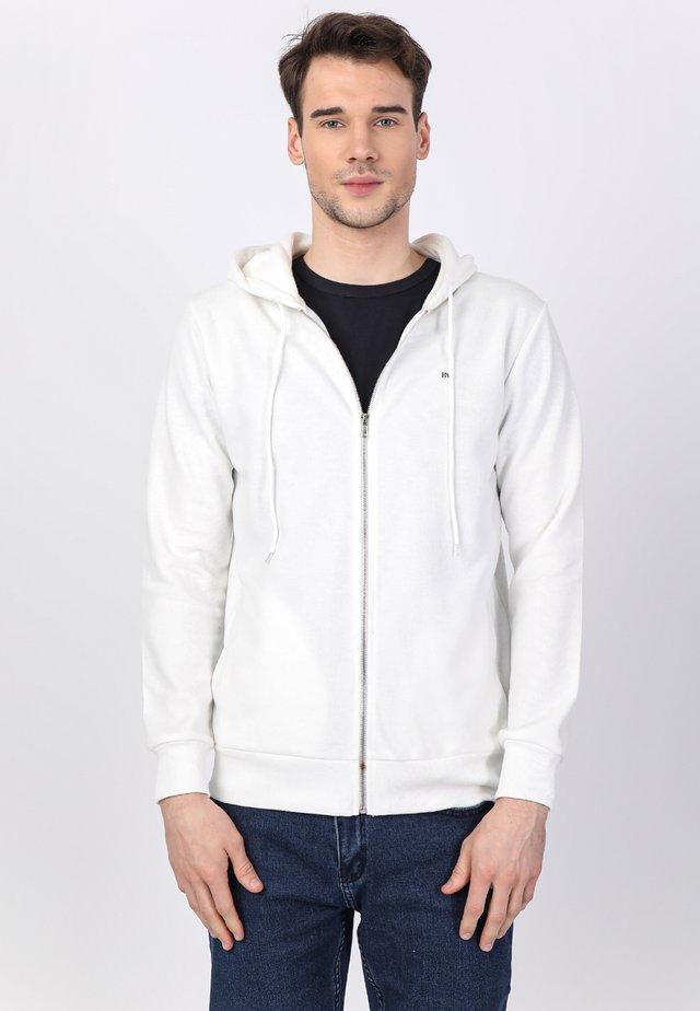 Felpa aperta - white/navy