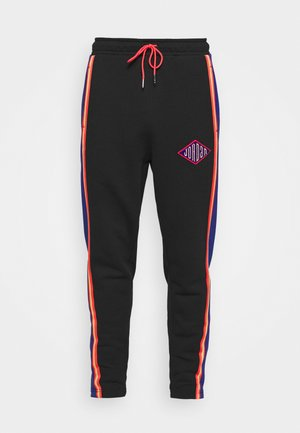PANT - Träningsbyxor - black/deep royal blue/track red