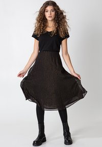 Indiska - ROS LUREX - A-line skirt - black - 0