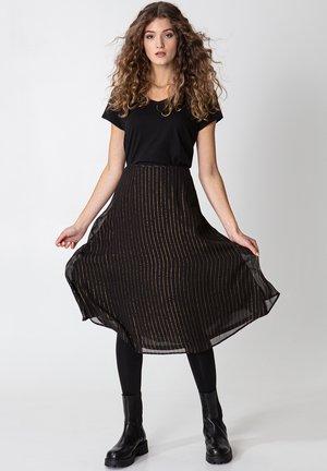 ROS LUREX - Áčková sukně - black
