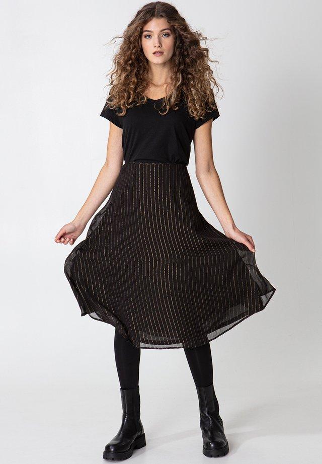 ROS LUREX - Jupe trapèze - black