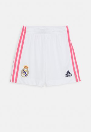REAL MADRID AEROREADY FOOTBALL SHORTS UNISEX - Sports shorts - white