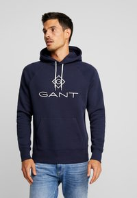 GANT - LOCK UP HOODIE - Sweat à capuche - evening blue - 0