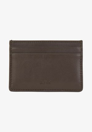 Business card holder - dark brown