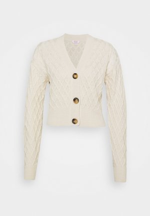 TWINSET CABLE  - Cardigan - oatmeal