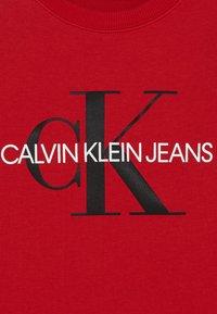 Calvin Klein Jeans - MONOGRAM LOGO UNISEX - Felpa - red - 3