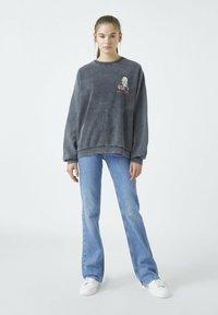 PULL&BEAR - Sweatshirts - mottled dark grey - 1