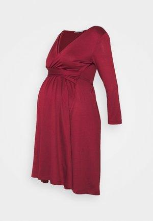 Sukienka z dżerseju - dark red