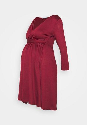Jerseykjole - dark red