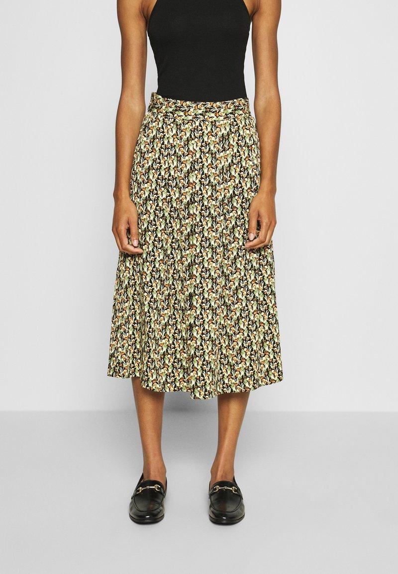 Moss Copenhagen - KAROLA RAYE SKIRT - A-line skirt - black