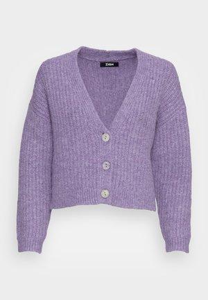 WOOL BLEND JUMPER - Cardigan - lilac