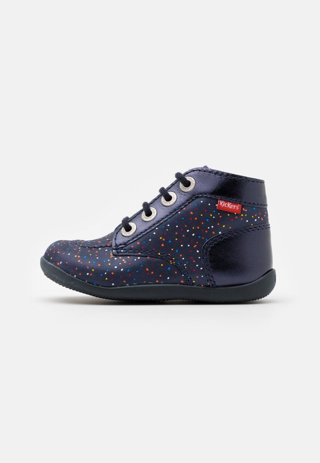 BONZIP - Lace-up ankle boots - marine pois multicolor