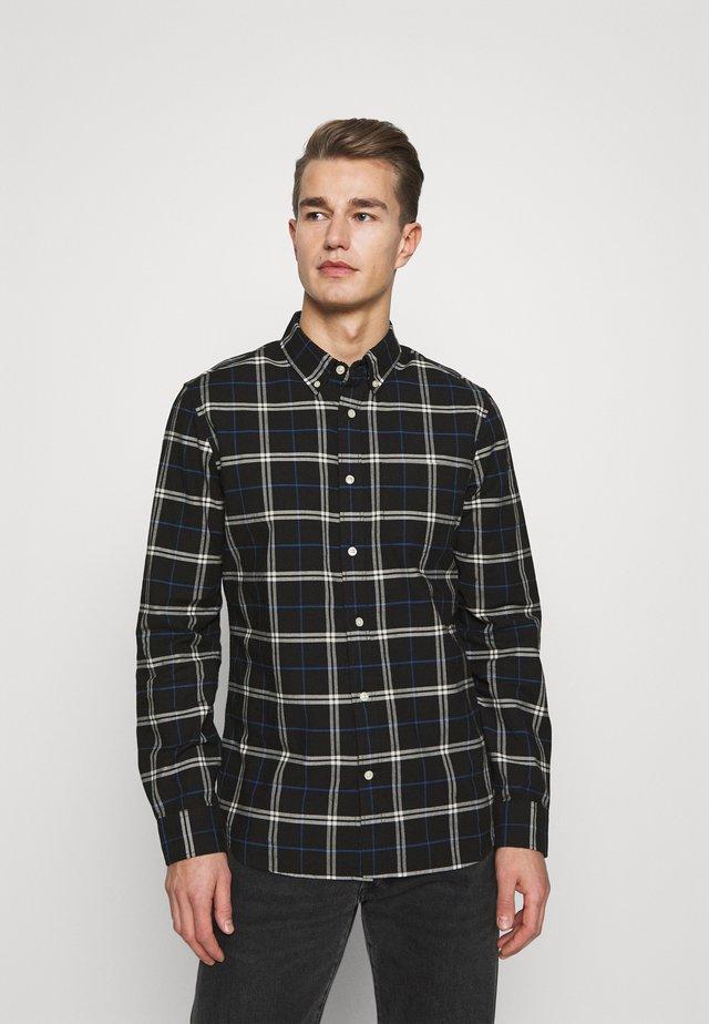 SLIM OXFORD - Shirt - black