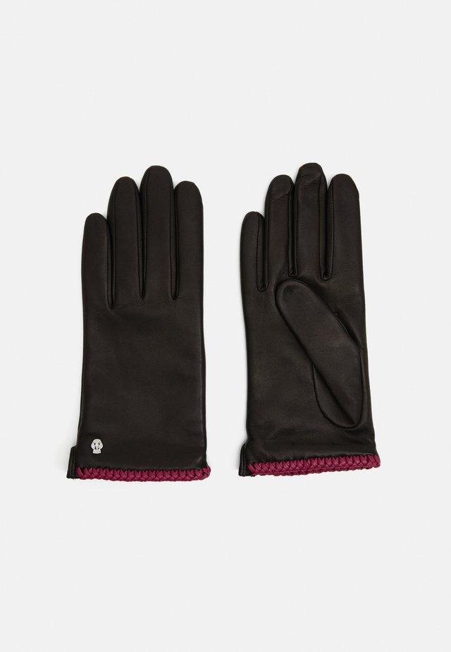 BRIGHTON - Guanti - black/pink