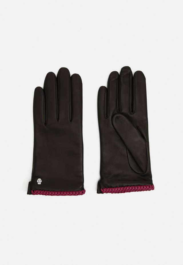 BRIGHTON - Gants - black/pink