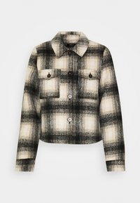 ONLY - ONLLOU CHECK JACKET - Summer jacket - pumice stone/black - 4